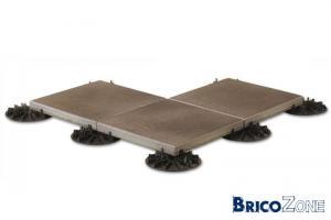 Avis terrasse en dalles béton sur plots palstique