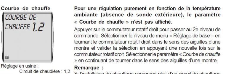 Fonctionment de courbe de regulation de chauffage sur - Courbe de chauffe ...