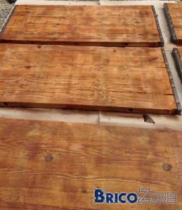 panneaux de coffrage en bois recyclé