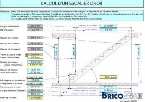 calcul escalier droit. Black Bedroom Furniture Sets. Home Design Ideas