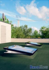 Verri�re VITRAL Skyvision pour toit plat.