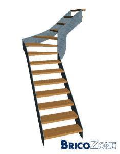escalier 1/4 tournant (un peu perdu)