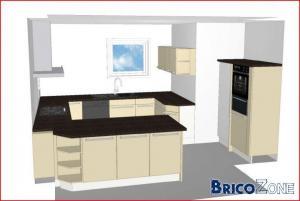 Aménagement cuisine nouvelle construction