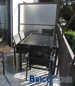s paration de balcon claustra panneau bois vitre alu. Black Bedroom Furniture Sets. Home Design Ideas