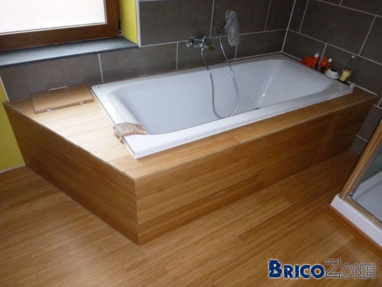 Coller baignoire sur sol - Coffrage baignoire bois ...