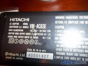 alimentation secteur pour caméra hitachi vm-2700e