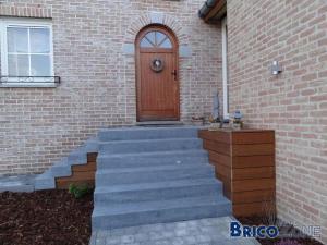prolonger lat�ralement un escalier pierre bleu