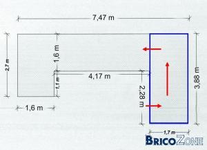 calcul d'escalier pour acc�s � 1 mezzanine.
