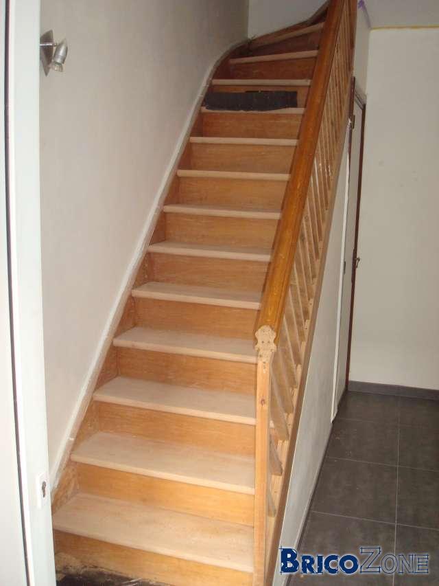 Rénovation escalier en hêtre