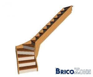 escalier sapin 1 4 tournant bas gauche sans contre marche pictures to pin on pinterest. Black Bedroom Furniture Sets. Home Design Ideas