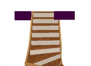 Diminuer un escalier quart tournant en largeur