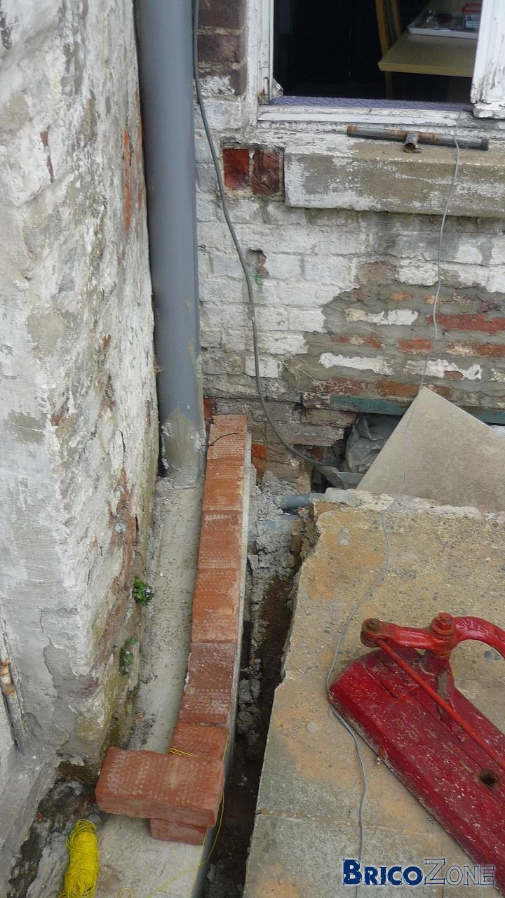 Probl me mur de parement et angles - Probleme d humidite mur interieur ...