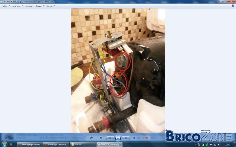 Détartrage chauffe-eau électrique 10L