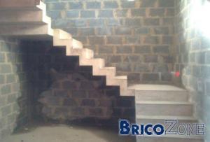 Escalier béton crémaillère (coffrage photos)
