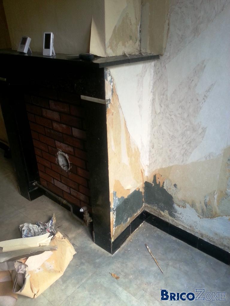 r novation mur ancien plafonnage ciment et trace humidit. Black Bedroom Furniture Sets. Home Design Ideas
