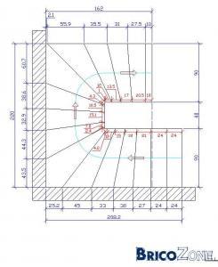 aide pour calculer éscaliers en U