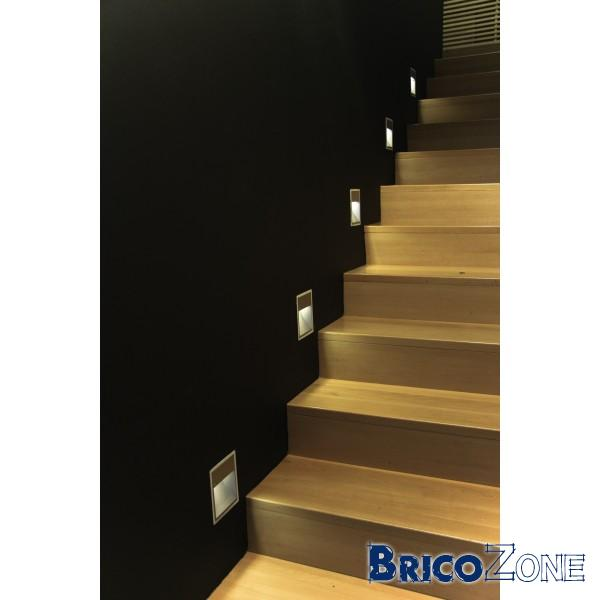 eclairage rvb spot led encast pour escalier. Black Bedroom Furniture Sets. Home Design Ideas
