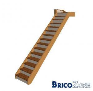 escalier droit au départ et 1/2 tournant en fin