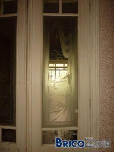 Ancienne porte avec vitres gravées!
