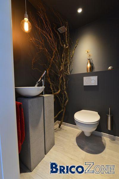 colonne effet b ton pour vasque et robinet. Black Bedroom Furniture Sets. Home Design Ideas