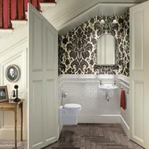toilette sous escalier. Black Bedroom Furniture Sets. Home Design Ideas