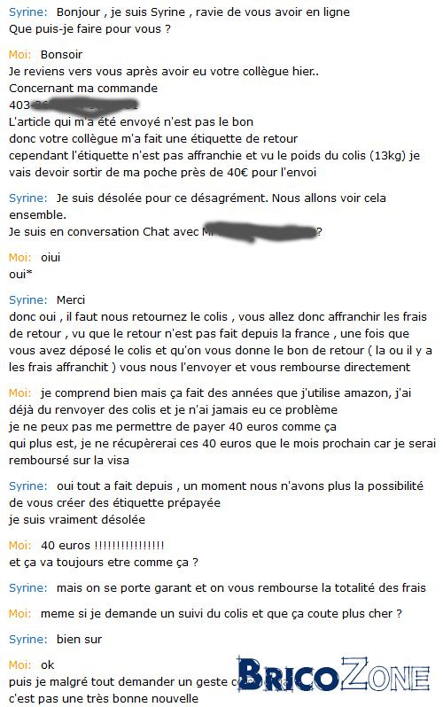 Politique de retour d'Amazon France