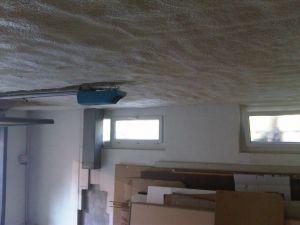 Isolation projetée plafond