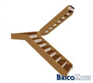 escalier double volée + palier