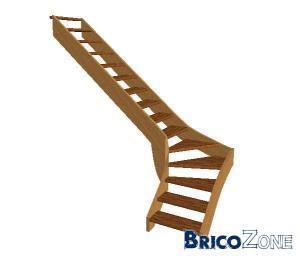 Réalisation escalier quart tournant avec contraintes