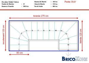 Dimensionnement escalier 2 4 tournant for Hauteur marche escalier standard