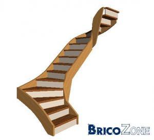Dimensionnement escalier 2/4 tournant