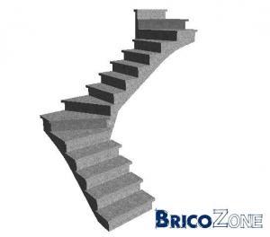 escalier quart tournant au milieu et l 39 arriv e. Black Bedroom Furniture Sets. Home Design Ideas