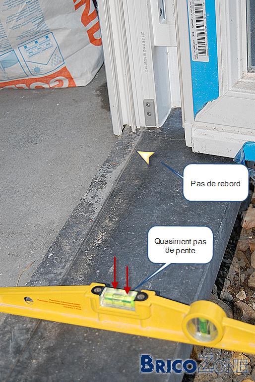 Seuil pierre bleue mal pos s - Pose seuil de porte ...