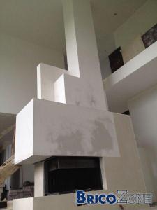 dessus cheminee  platre ?