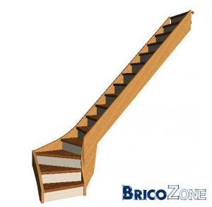 Escalier calcul pour 1 4 tournant bas droite - Calcul escalier 1 4 tournant ...