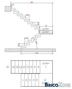 Calcul d'un escalier demi tournant besoin d'avis