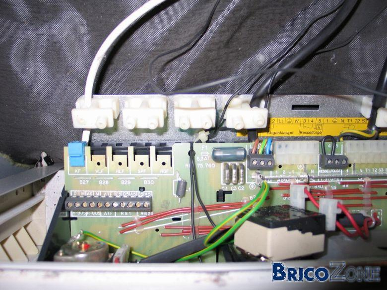 Branchement thermostat + sonde ECS sur chaudi�re