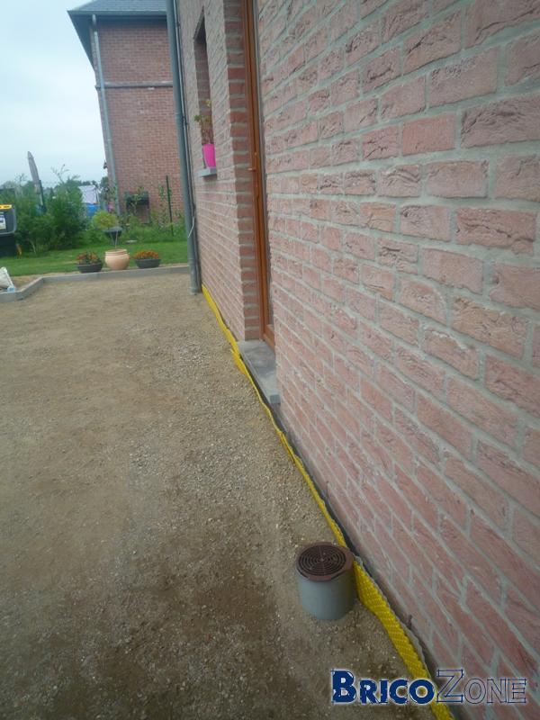 Problème humidité mur suite placement terrasse Klinkers !!!