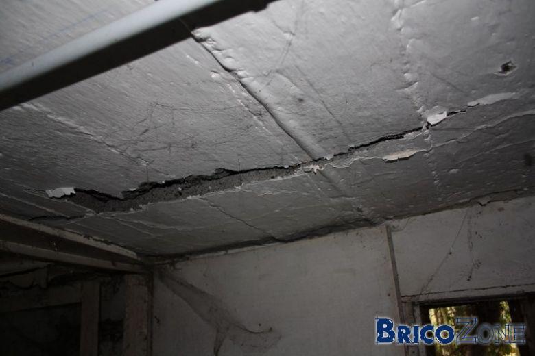Renforcer un plafond beton ab m - Pose de dalles polystyrene au plafond ...