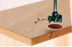 Faire des trous r�guliers et pr�cis de 20mm dans planche en bois