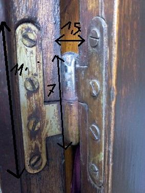 rehausser une porte avec charnières non-réglables