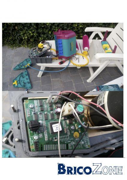 reparation carte electronique robot piscine Robot piscine en panne