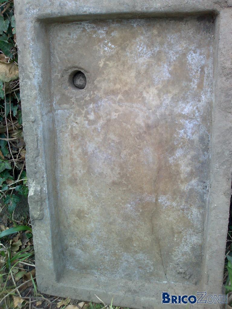 evier en pierre fissuré, possible de réparer?