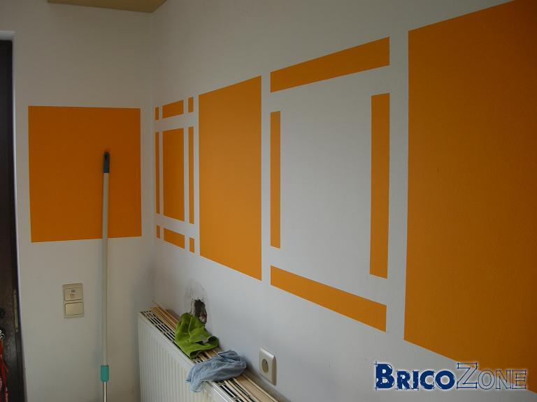peindre un mur en orange