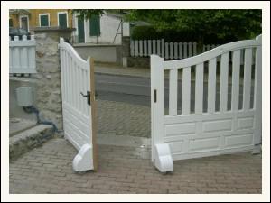 une solution miracle pour motoriser ce portail. Black Bedroom Furniture Sets. Home Design Ideas