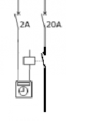 Unifilaire, horloge + contacteur pour boiler