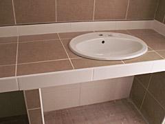 tablette salle de bain pour évier