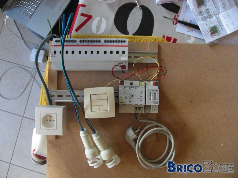 Test KNX - Raccordement Actuateur
