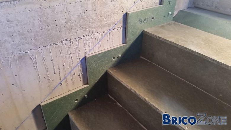 Escaliers b�ton cr�maill�re 12 cm