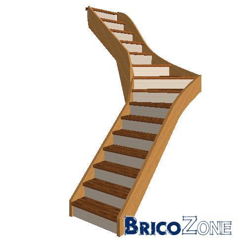 escalier 1 4 ou double quart tournant. Black Bedroom Furniture Sets. Home Design Ideas